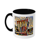 Physics Oxford College Mug with black handle