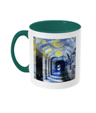 Corpus Christi College Oxford Alumni mug with green handle