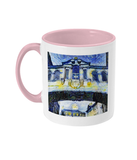 Bridge of Sighs Oxford Alumni mug with pink handle