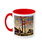 Red Oxford coffee mug with St. Catherine's college