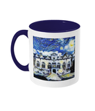 Oriel College Oxford Alumni mug with navy blue handle