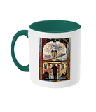 Queens College Oxford Mug with green handle