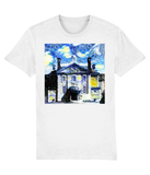 Lady Margaret Hall Oxford University unisex white organic cotton t-shirt with art design