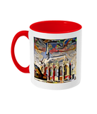 Exeter College Oxford mug with red handle