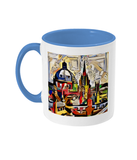 Oxford Spires mug with light blue handle