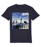 Oxford University Spires Unisex Organic cotton navy t-shirt with art design