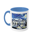 Oriel College Oxford Alumni mug with light blue handle