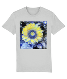 Van Gogh Sunflower unisex grey organic cotton  t-shirt