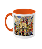 Jesus College Oxford university Tea Mug orange