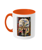 Queens College Oxford Mug with Orange handle