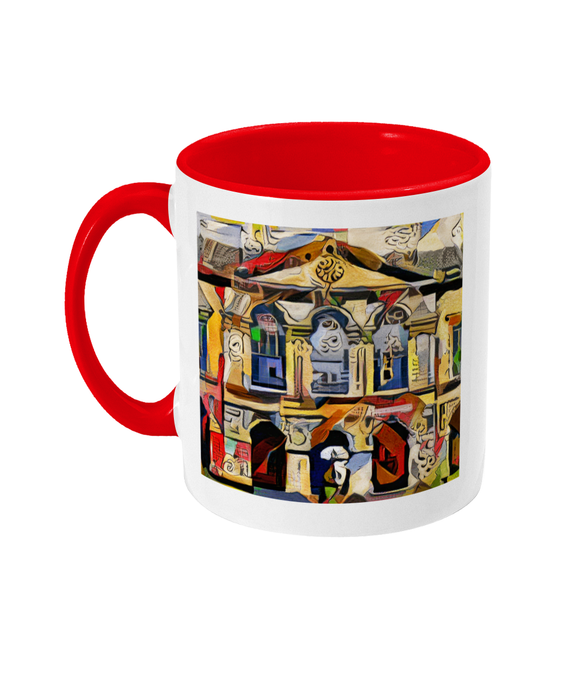 Worcester college Oxford mug red