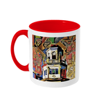 Harris Manchester College Oxford mug red