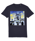 Trinity College Oxford University Mens & Womens Unisex Van-gogh Inspired Student organic cotton navy  T-shirt.