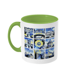 Oxford University Alumni Mug with light green handle