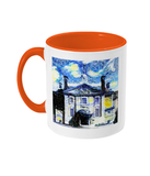 Lady Margaret Hall LMH College Oxford Alumni mug with orange handle