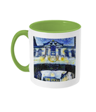 Bridge of Sighs Oxford Alumni mug with light green handle
