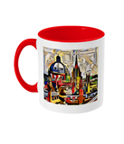 Oxford Spires mug with red handle