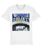 Hertford College Bridge of Sighs Oxford unisex white organic cotton t-shirt with art design