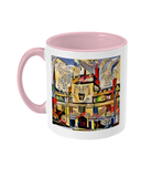 Jesus College Oxford university Tea Mug pink