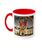 Mansfield college Oxford Mug red