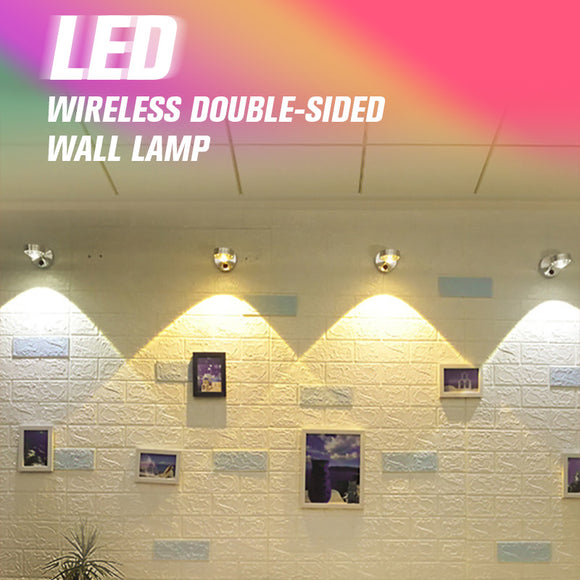 LED Wireless Double-Sided Wall Lamp