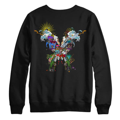 Butterfly Black Crewneck Sweatshirt - Coldplay US