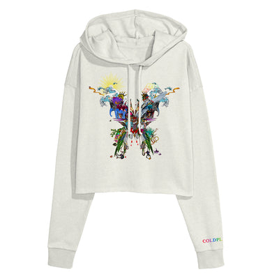 Butterfly Crop Hoody - Coldplay US