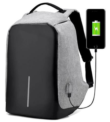 ANTI-THEFT SMART BACKPACK WITH USB CHARGE PORT