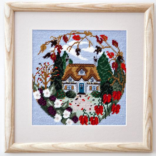 Twilleys Autumn Cottage Tapestry Photo Kit | Needlepoint Kit