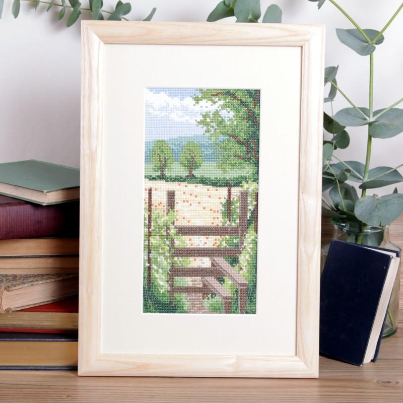 Seasonal Summer Walk Cross Stitch Photo Kit