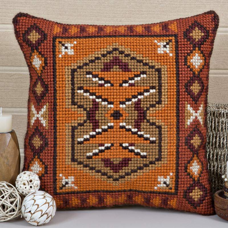 Twilleys Inca Cross Stitch Cushion Kit | Needlepoint Kit
