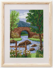 Mountain Scene Photo Tapestry Kit | Needlepoint Tapestry