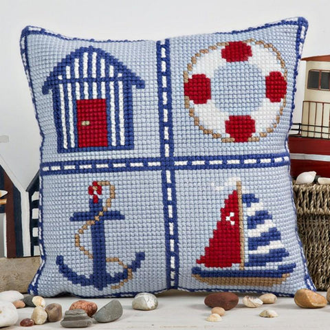 Nautical Cushion Cross Stitch Kit