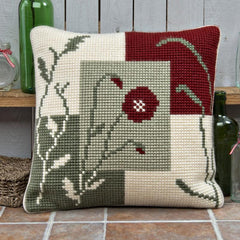 Twilleys Mosaic Poppy Cross Stitch Cushion Kit