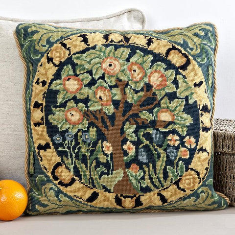 Orange Tree Tapestry Cushion Kit | Needle Point Tapestry