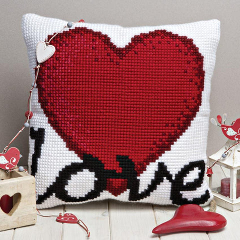 Twilleys Love Heart Cushion Cross Stitch Kit