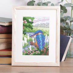 Twilleys Kingfisher on River Long Stitch Kit