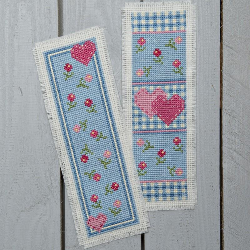 Twilleys Heart Medley Kitsch Matching Bookmark Cross Stitch Kit
