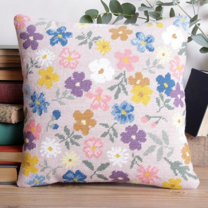 Twilleys Fancy Free Floral Cross Stitch Cushion Kit