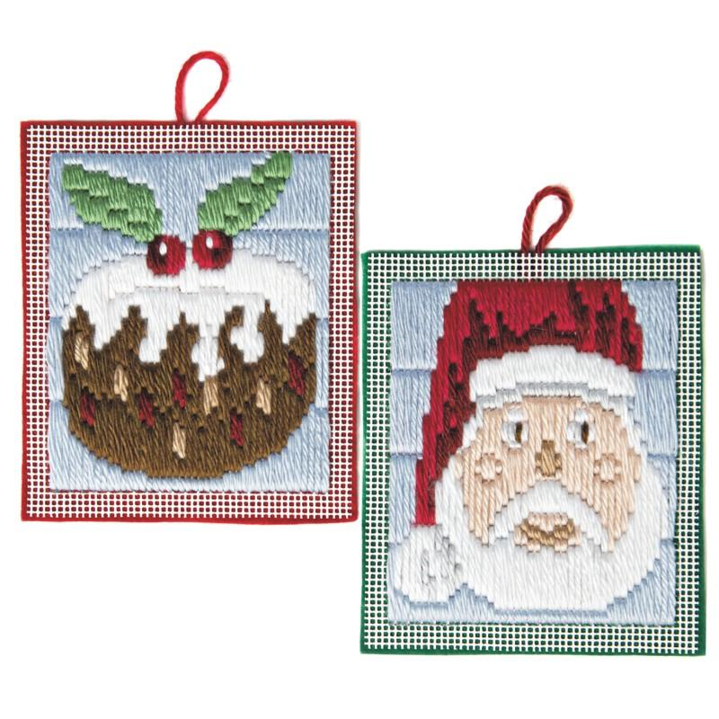 Christmas Pudding Long Stitch Kit For Children