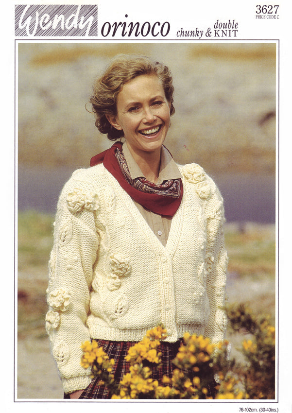 Lady's Cardigan with Flowers