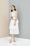 RANDOLPHE Lace Midi Dress with Belt