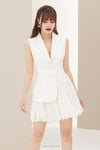 ROCHE Blazer Lace Mini Dress