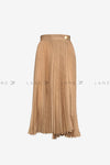 ANETA Pleated Midi Skirt with Button