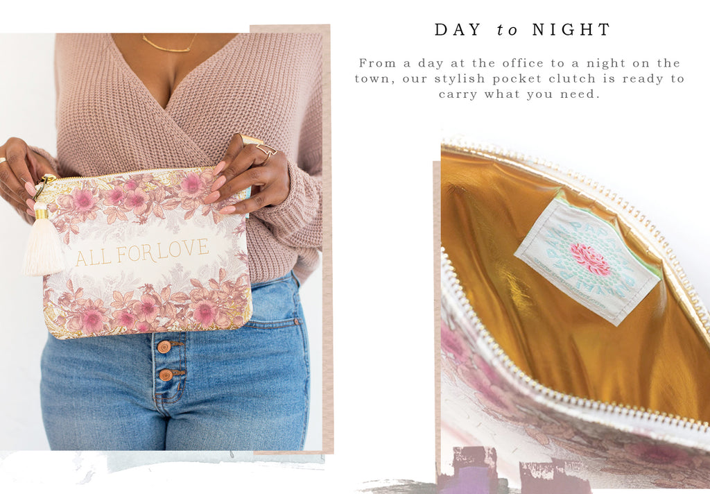 PAPAYA Floral Pocket Clutch