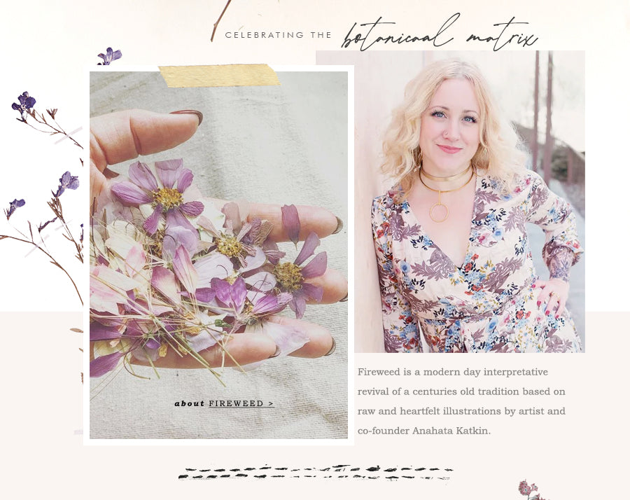 Fireweed women's stationery, greeting cards, sketchbooks, pressed botanicals, pressed florals, coin purses, notebooks, bucket totes and tassel clutches
