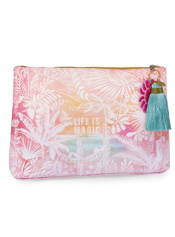 Life is Magic Large Tassel Pouch