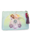 Solar Blooms Large Tassel Pouch