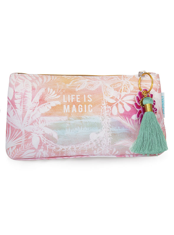 Life is Magic Small Tassel Pouch