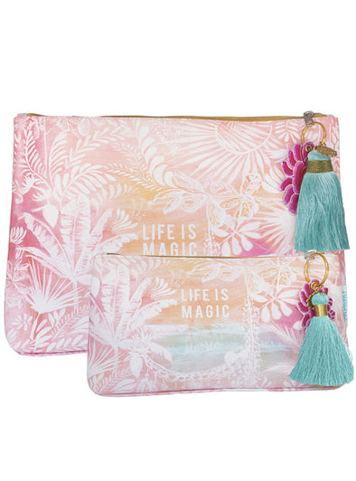 Life is magic Large and Small Tassel Pouch